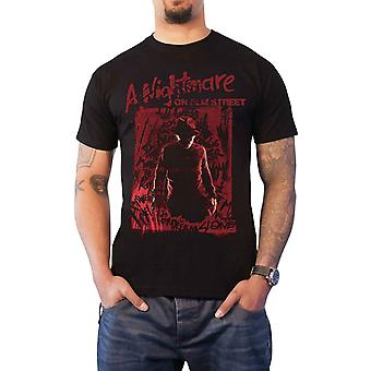 A Nightmare On Elm Street T Shirt Freddy Silhouette new Official Mens Black