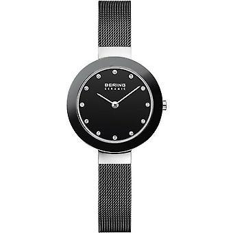 Bering Women's Watch Wristwatch Slim Ceramic - 11429-102 MeshBand
