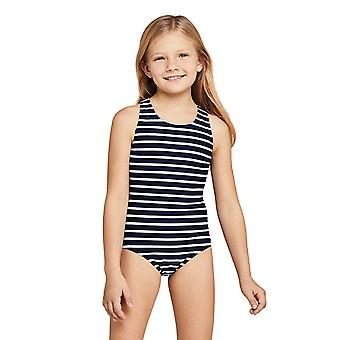 Lands' End Girls Slim Racerback One Piece Swimsuit 12 Blue