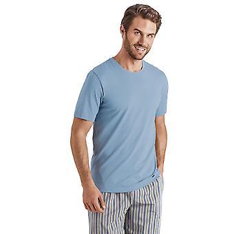 Hanro Mens Sleep & Lounge Living Leisure S/SLV Shirt blue