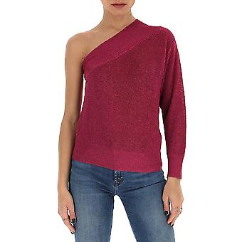 Laneus Mgd1257cc8ciclamino Women's Burgundy Cotton Sweater