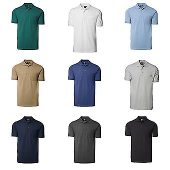 ID Mens Classic Short Sleeve Pique Regular Fitting Polo Shirt With Pocket