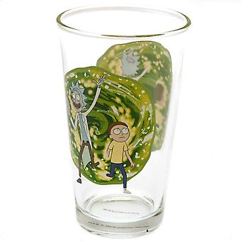 Rick y Morty Portal Glass