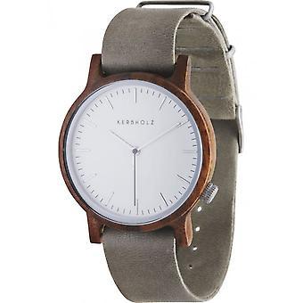 Notched wooden watches mens watch Walter Walnut concrete grey WATWWAL9882
