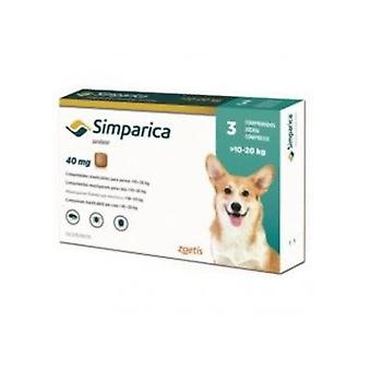 Simparica 40mg Chewable Tablets For Dogs >10-20 kg (22-44 lbs)