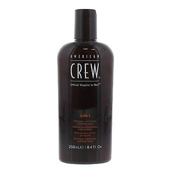 American Crew 3 in 1 Shampoo, Conditioner,  Body Wash