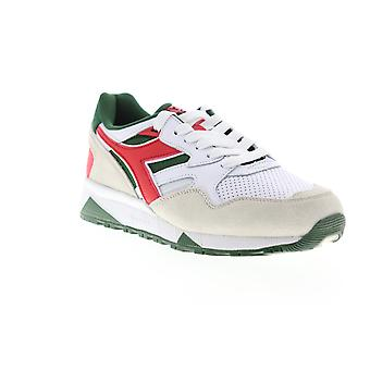 Diadora N9002 Beta Mens White Suede Lace Up Low Top Sneakers Chaussures