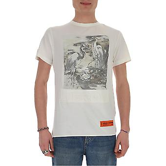 Heron Preston Hmaa011209140220188 Men's White Cotton T-shirt