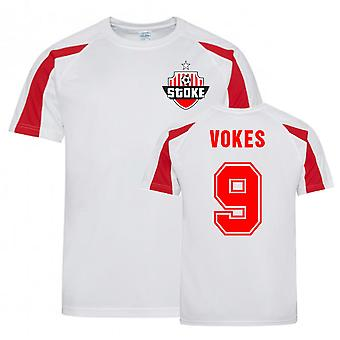 Sam Vokes Stoke Sports Training Jersey (Hvid)
