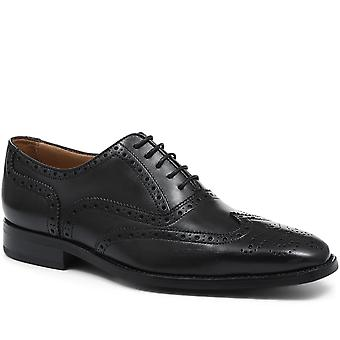 Jones Bootmaker Miesten nahka Oxford Wing-Tip Brogues