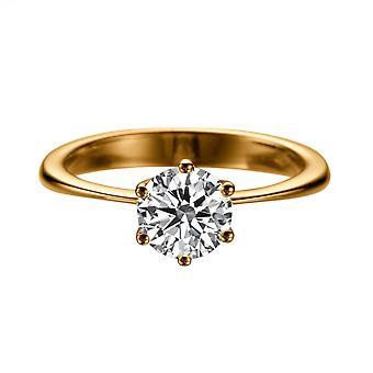 2,2 CT 8,50 MM für immer ein Moissanite Engagement Ring 14K Solitaire Classic 6 Dreizack 14K Rose Gold