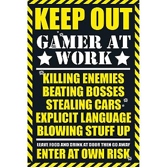 Gaming Keep Out Gamer yrityksessä Work Maxi Poster