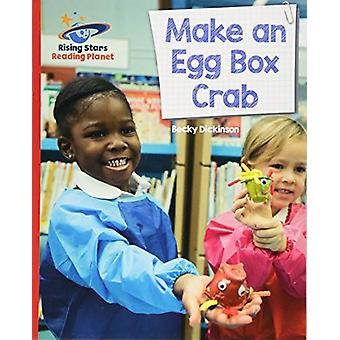 Reading Planet - Make an Egg Box Crab - Red B - Galaxy by Becky Dickin