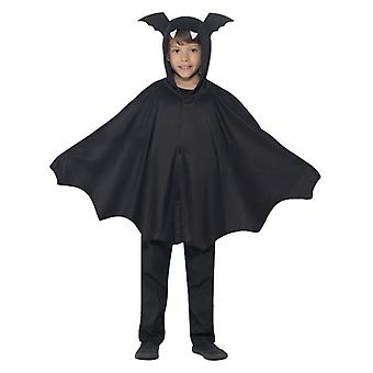 Childrens Black Bat Cape Halloween Fancy Dress Accessory