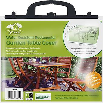 Aidapt tuintafelset beschermhoes waterdicht - groen