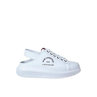 Karl Lagerfeld Kl62515011 Women's White Leather Sneakers