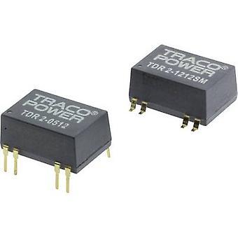 TracoPower TDR 2-2413SM DC / DC محول (SMD) 24 V DC 15 V DC 134 م أي 2 W رقم. من النواتج: 1 x