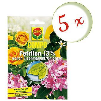 Sparset: 5 x COMPO Fetrilon 13%