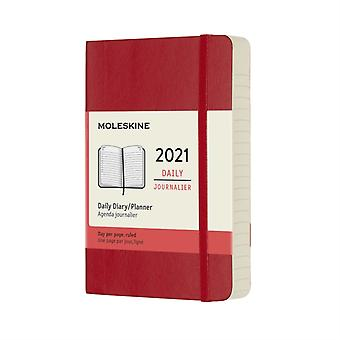2021 12M Daily Ntbk Pock Scarle Red Soft