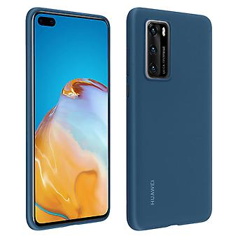 Officiële Huawei soft touch case, backcover voor Huawei P40 - Blauw
