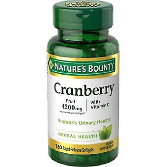 Nature's Bounty Cranberry Plus Vitamin C 4200mg 120 Softgels Bottle