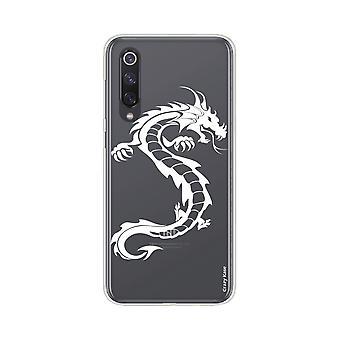 Rumpf für Xiaomi Mi 9 Se Weich Drache Weiß