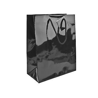 Black Gloss Gift Bag, Small Pack of 5 170x120x75mm