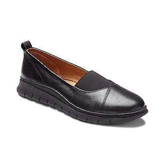 Vionic Womens Linden Leather Round Toe Loafers