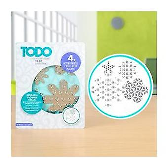 TODO Letterpress and Hot Foil Plate Modern Flower Stack