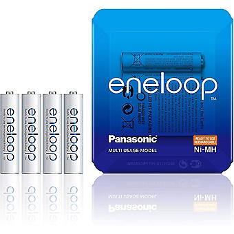 Panasonic eneloop AAA Rechargeable Ready-To-Use Ni-MH Batteries, Pack of 4 (BK-4MCCE/4LE)