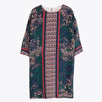 Vilagallo - Elenora Satellite Print Dress - Green