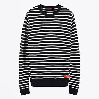 Scotch & Soda  - Classic Striped Pullover - Navy