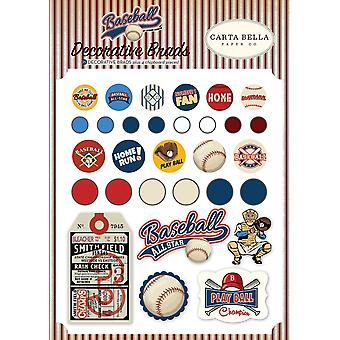 Carta Bella Baseball Decorative Brads