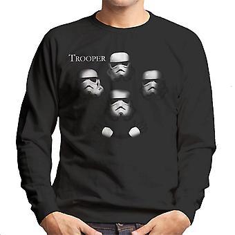 Original Stormtrooper Trooper Rock Album Cover Parody Men's Sweatshirt