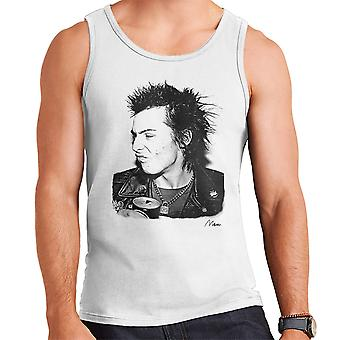 Sid Vicious Close Up With Beer Men's Vest