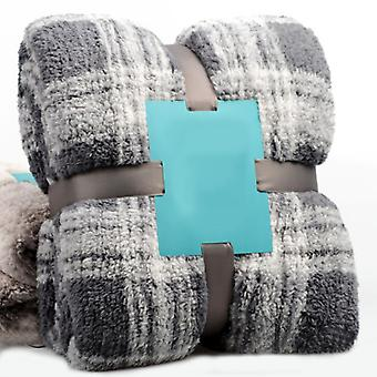 YANGFAN Velluto di Agnello Inverno Single-Layer Plaid Thick Caldo Coperta