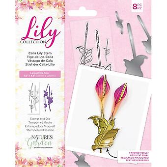 Crafter's Companion Lily Collection Stamp & Die Calla Lily Stem