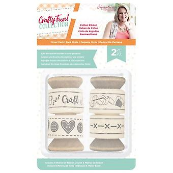 Crafter's Companion Crafty Fun Cotton Ribbon Pack