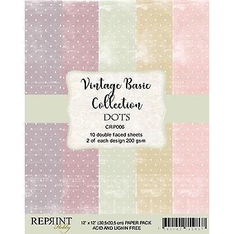 Reprint Dots Basic 12 x12 Inch Paper Pack