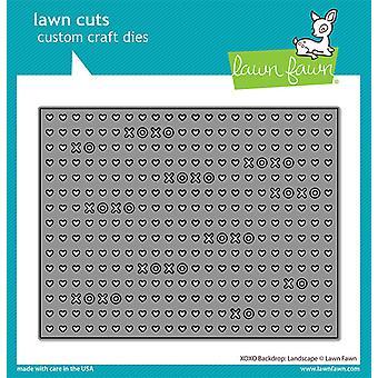 Lawn Fawn XOXO Hintergrund: Landschaft stirbt