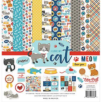 Echo Park I Love My Cat 12x12 Inch Collection Kit