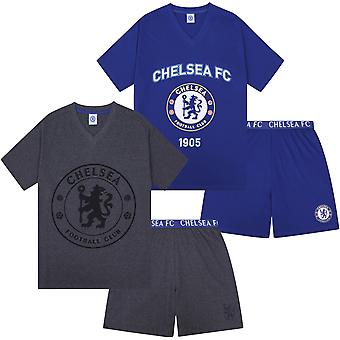 Chelsea FC Official Football Gift Mens Short Piżama Loungewear