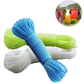 New 10m / 20m Clothes Line Cords Long Colorful Nylon Rope - Drawstring Rope For Garden