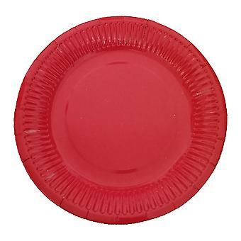 10 PIASTRE di carta rotonde usa e getta 7 pollici rosso