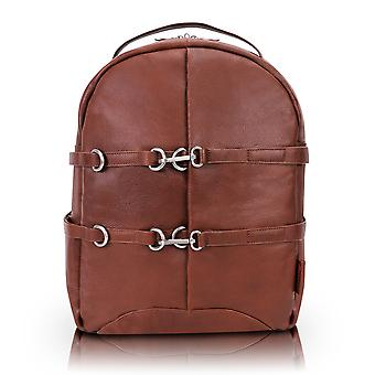 """18794, U Series, Oakland 15"""" Leather, Business Casual, Laptop & Tablet Backpack - Brown"""