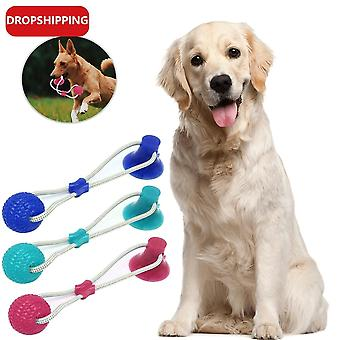 Interactive Pet Dog Suction Cup Tpr Rubber Safe Chew Ball Molar Bite Dog Toys