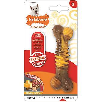 Nylabone Extreme Chew Getextureerd rundvlees / kaas - Klein
