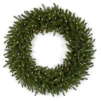 Autograph Foliages Christmas Pine Wreath Pine With Led Lights 48 Inches