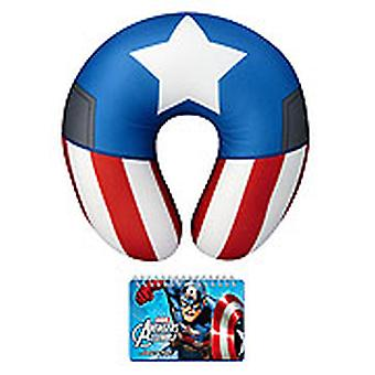Autograph Book With Neck Pillows Marvel Captain America Licensed 68174