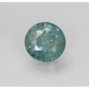 Cert 2.47 Karaat Sky Greenish Blue Round Brilliant Enhanced Natural Diamond 8.63m